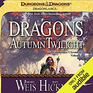 Dragons of Autumn Twilight     Dragonlance: Chronicles, Book 1              By:                                                                                                                                 Margaret Weis,                                                                                        Tracy Hickman                               Narrated by:                                                                                                                                 Paul Boehmer                      Length: 20 hrs     3,446 ratings     Overall 4.3