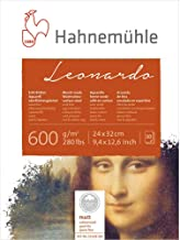 Bloco Aquarela Leonardo 600 g/m² Grain Fine 24 x 32 cm com 10 Folhas Hahnemuhle