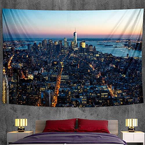 JXWR Hermoso Paisaje decoración del hogar Tapiz Mandala decoración Bohemia colchón de Viaje Estera de Yoga Hippie sofá Manta 150x130 cm