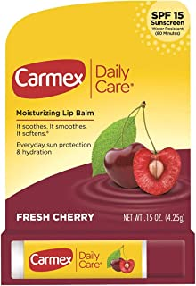 Carmex Click-Stick Moisturizing Lip Balm SPF 15 Cherry 0.15 oz (Pack of 4)