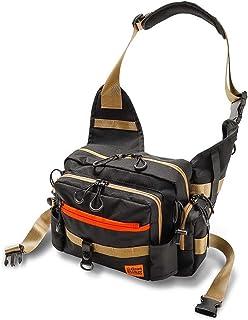釣り ショルダーバッグ 釣り バッグ タックルバッグ 釣り ワンショルダーバッグ グランウォーカー フィッシングバッグ ブラック グレー シルバー オレンジ ゴールド