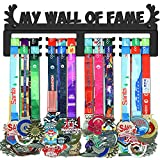 GENOVESE My Wall of Fame Medal Holder Display Hanger Rack,Sturdy Steel Metal,Wall Mounted Over 50 Medals Easy to Install