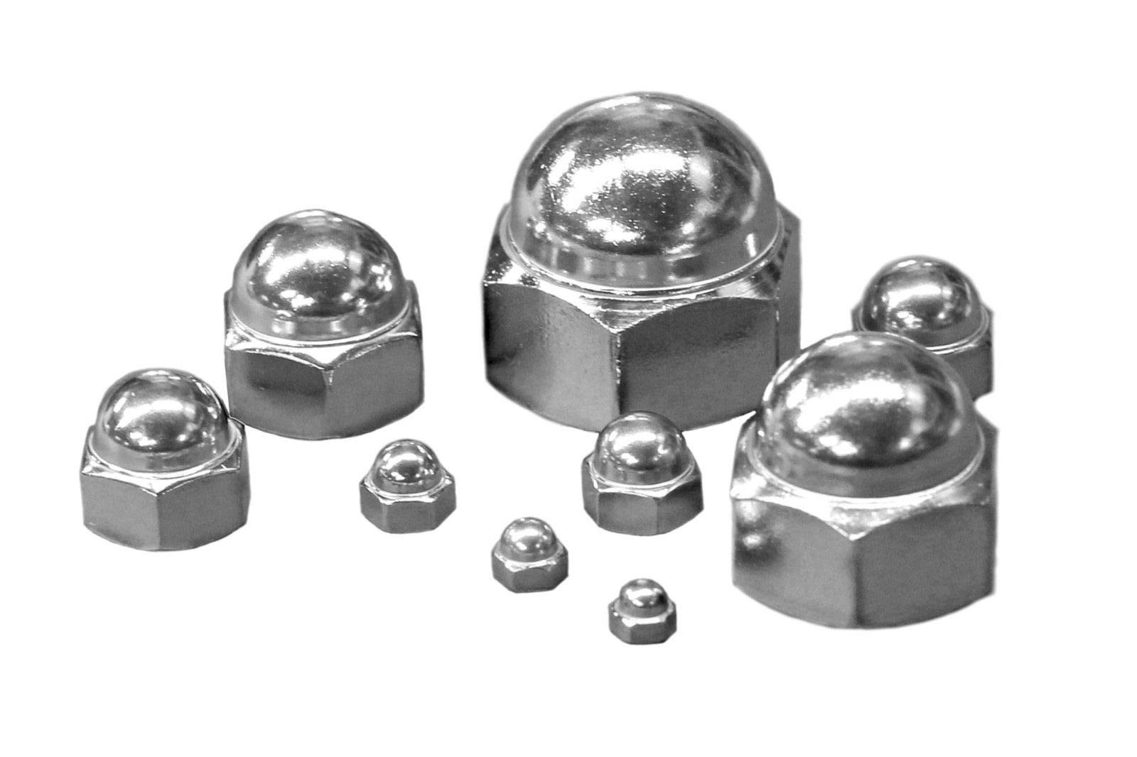 Bolt Base 2mm A2 Stainless Steel Nylon Insert Nyloc Nylock Lock Nuts M2 X 0.4mm Pitch 10