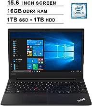 Lenovo 2019 ThinkPad E590 15.6 Inch FHD 1080p Laptop (Intel Core i5-8265U up to 3.9 GHz, 16GB RAM, 1TB SSD (Boot) + 1TB HDD SSD, Intel UHD Graphics 620, Bluetooth, WiFi, HDMI, Win 10 Pro)