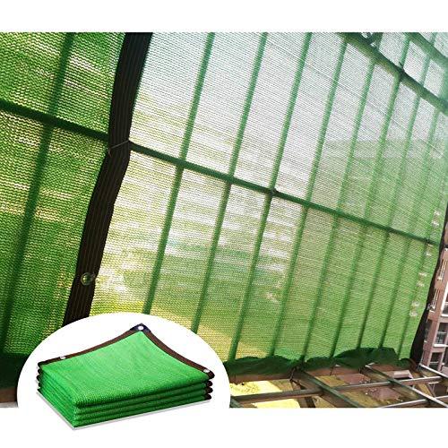 YLL Voile D'ombrage Soleil, Serre Filet D'ombrage avec Oeillets, Respirant Résistance Déchirement Rectangle HDPE Tissu Perméable pour Maison Pergola Patio Canopée (Vert),2x4m(7 * 13ft)