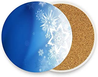 CoolToiletLidCoverCC Magic winter stars in a wonderful picture Ceramic Coaster for Drinks 4