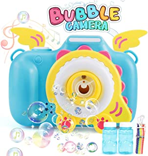 kolegend Bubble Machine Toys, Camera Bubble Blower for Kids Toddlers with 2 Bubble Solution and Music Sounds Rich Bubble Over 1000 Bubbles Per Minute for Parties, Wedding, Outdoor