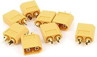 X-Dr 8 Pcs Yellow Male XT60 EC Connector Adapter for RC Model Battery (4a99155a-a222-11e9-8d7c-4cedfbbbda4e)
