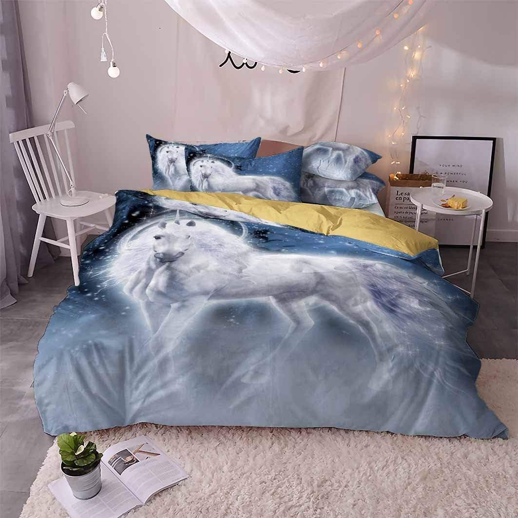 helengili 3D Digital Printing Bedding Monocerus Unicorn Set Bedd Special sale item sale