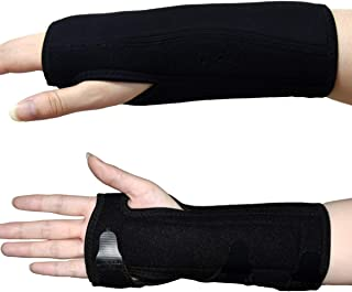 Carpal Tunnel Night Time Wrist Brace for Right and Left Hands - Cushioned to Help with Carpal Tunnel and Relieve and Treat Wrist Pain,Adjustable,Black