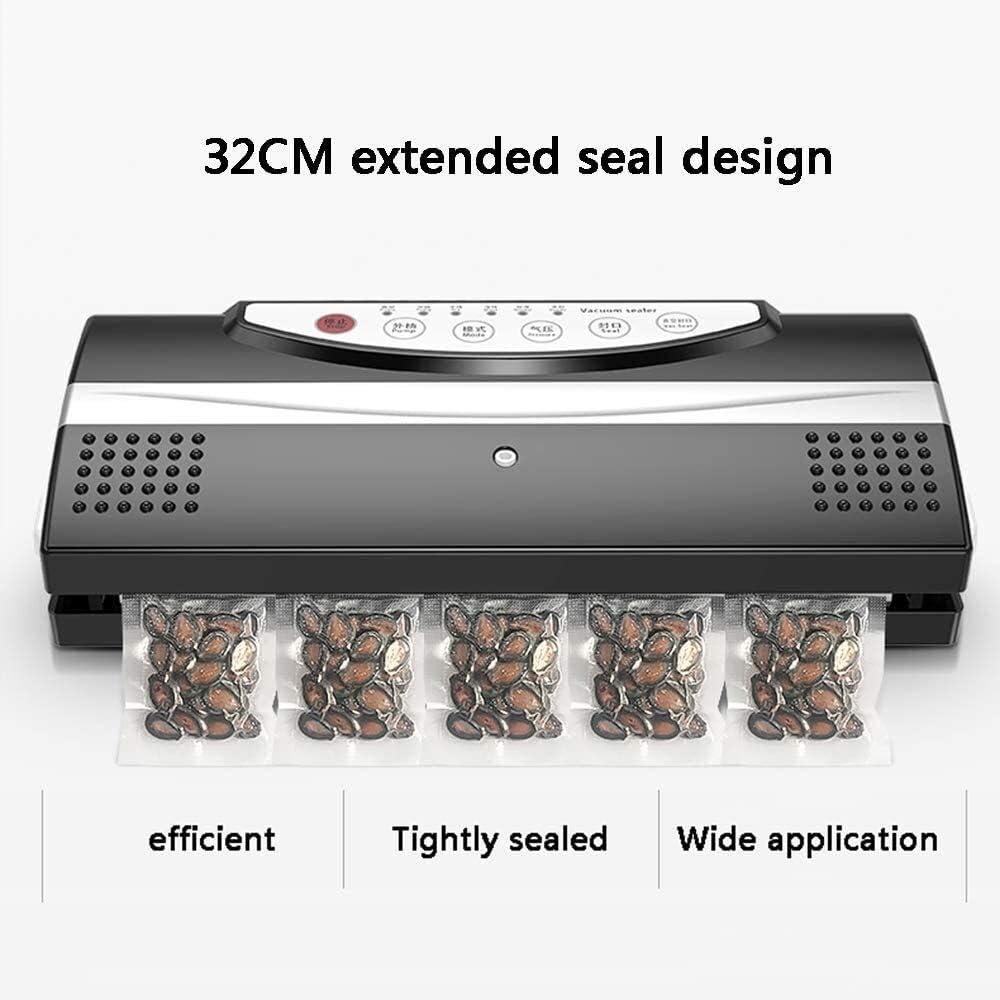 Vacuumsealer Machine Foodsaver, Vacuum Sealer, Vacuum Sealer automatische vacuüm sluitmachine Met droge en vochtige Voedsel Modi for conservering en Sous Vide (Color : White) Black