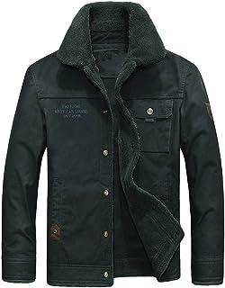 CouGoo Winter Retro Mens Fleece Jackets Mans Coats Jackets Warm Thicken Down Parkas Coat Outwear