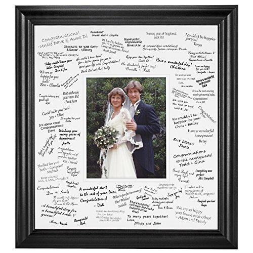 Wedding Signature Mat Set for 8x10 Photo (Black)
