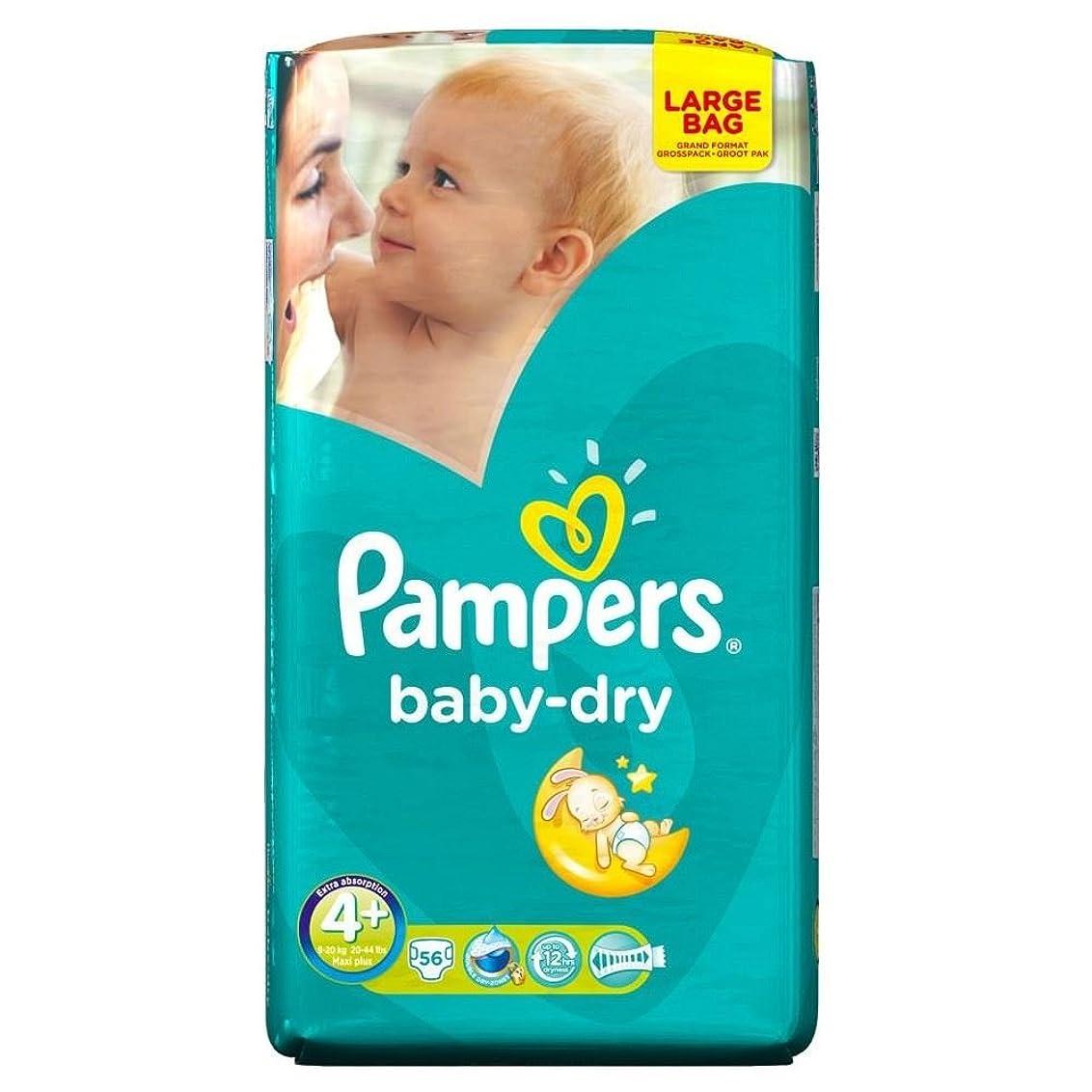 子供っぽい接ぎ木作るPampers Baby Dry Size 4+ Maxi Plus 9-20kg (56 per pack) パンパース赤ちゃんドライサイズ4+マキシプラス9~20キロ(パックあたり56 )