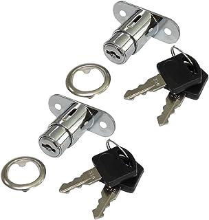 AERZETIX: 2X Cerraduras y Llaves para Puerta de Mueble cajón con botón C41400