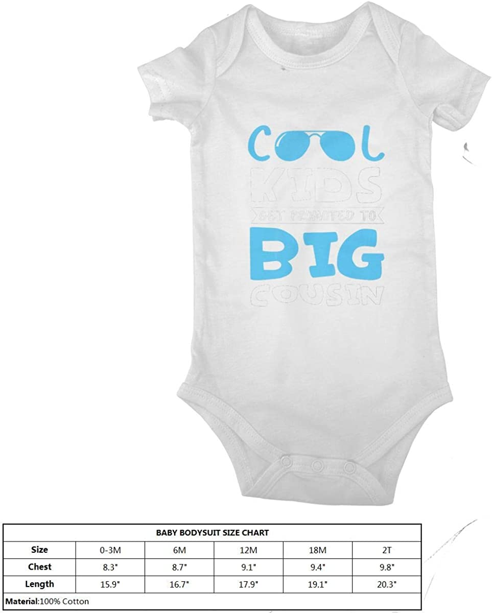 LzVong Cool Kids Get Promoted Cotton Baby Short Sleeve Bodysuits Jersey Rompers