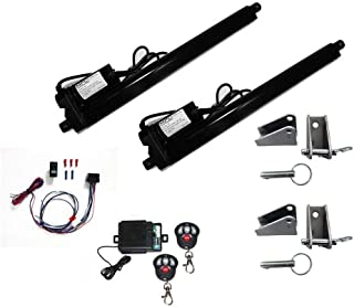 Complete Linear Actuator Kit: Includes (2) Black Heavy Duty 12 Volt Linear Actuators with 12