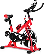 GOPLUS Stationary Bike, Indoor Riding Bike, with Heart Rate Sensors, LCD Display, Professional Exercise Bike for Home and ...