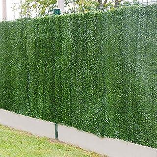 Gardenode Haie Artificielle Bold en Rouleau de 3 mètres - H 1m80-129 brins