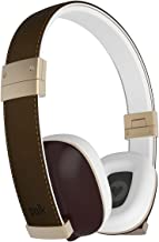 Polk Audio Hinge Headphones - Brown/Gold - with 3 button remote and in-linemicrophone
