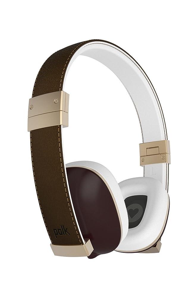 丘姿勢ファックスPolk Audio The Hinge On Ear Headphones - Brown