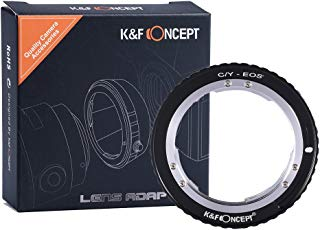 K&F Concept Lens Mount Adapter Contax Yashica C/Y Lens to Canon EOS EF Adapter, for Canon EOS 1D, 1DS, Mark II, III, IV, 5D, Mark II, 7D, 30D, 40D, 50D, 60D, 70D, Digital Rebel T2i, T3, T3i, T4i