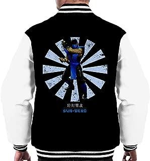 Mortal Kombat Sub Zero Retro Japanese Men's Varsity Jacket