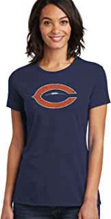 36 and Oh! Chicago C Football T Shirt Womens Vintage 2018 - Soft Style