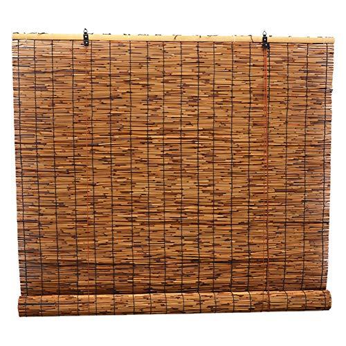 R&F Persianas enrollables y estoresCortinas Enrollables Blacked Reed, Persianas Exteriores para Puertas De Terraza para Jardín Terrace Pergola Patio, 65/85/105/125/125/145 Cm De Ancho(Size:65×180cm)