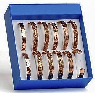 طقم من 6 أساور نحاسية تيبت من ايلوريا ديكور مغناطيسي مجوهرات روحية للرجال والنساء