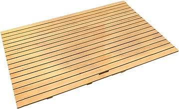 JIAJUAN Natural Wooden White Oak Bath Mat Sturdy Waterproof Bathroom Shower Bathtubs Anti Slip Floor Mats (Color : Natural, Size : 90x120cm)
