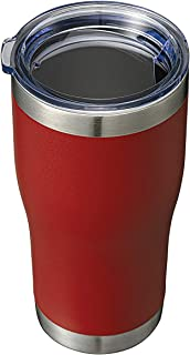 20oz Stainless Steel Tumbler Vacuum Mugs Insulated Double Wall Travel Cup With Lid (Powder Coated Wine Red, 1 Pack)