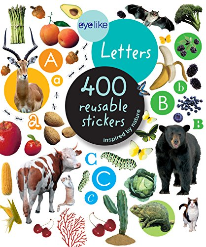 Eyelike Letters: 400 Reusable Stickers Inspired by Nature