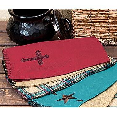 Red Cross Western Kitchen Towel Set - 3 pcs - Rustic Dining Tableware