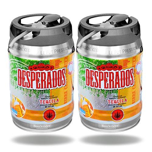 2x Desperados Tequila Bier mit Zapfhahn 5 Liter Partyfass 5,9% vol.