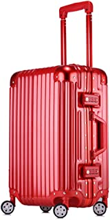 Custom Lock Large Capacity humanized Design Travel Suitcase Luggage Out Trolley case red 24 inch