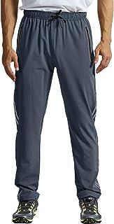 TBMPOY Men's Outdoor Hiking Pants Quick Dry Lightweight Mountain Running Active Jogger Pants Zipper Pockets