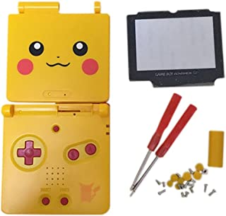 Junsi Yellow Limited Housing Shell Case Cover w/Screwdrivers for GBA SP Gameboy Advance SP