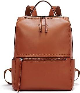 BOSTANTEN Damen Leder Rucksack Schulrucksack Reiserucksack Casual Backpack Daypacks Braun