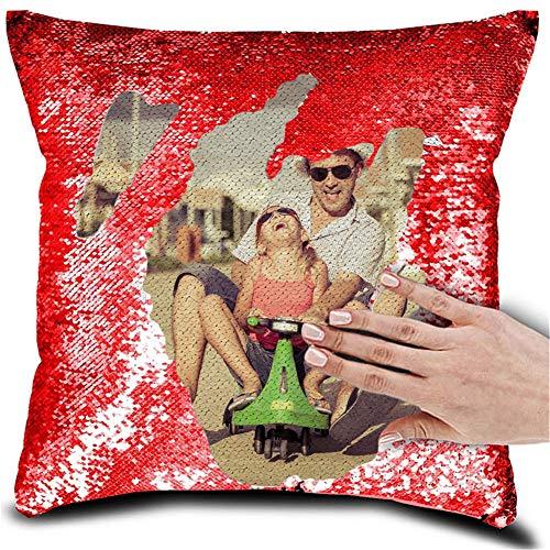 Aangepaste Foto Pailletten Kussen Gepersonaliseerde Aangepaste Magische Omkeerbare Pailletten Kussen Verjaardag Cadeau Voor Vrouwen