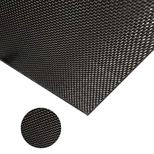 CARBONMAKE 500X500X0.8mm 100% 3K TORAY Carbon Fiber Plate Plain, 0.8mm Thickness (Glossy Surface)