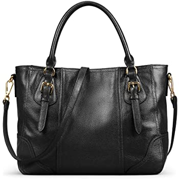 Kattee Women's Leather Purses and Handbags, Top Handle Satchel Shoulder Bag Designer Tote