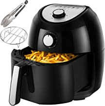 Air Fryer, 5.8 Quarts Air Fryers w/Accessories Cookbook, Grill Rack and Tongs Brown