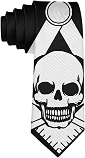 Gentleman Tie - Freemason Logo Skull Head Necktie, Wedding Business Graduation Party Dress Ties