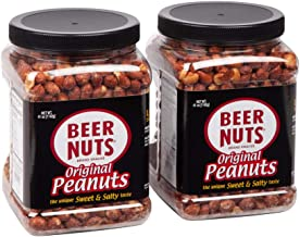 product image for BEER NUTS Original Peanuts - 41 oz Resealable Jar (Pack of 2), Sweet and Salty, Gluten-Free, Kosher, Low Sodium Peanut Snacks