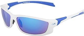 Infinite Eins Blanc et Bleu Lunettes de soleil de sport