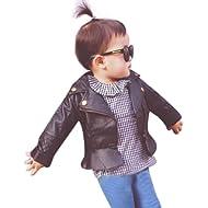 Perman Kids Infant Baby Faux... Perman Kids Infant Baby Faux Leather Jacket Zipper Hooded Coats Outwear Coat
