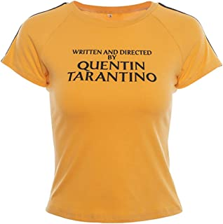 YEMOCILE Women's Fashion Written and Directed by Quentin Tarantino Short Sleeve T Shirts