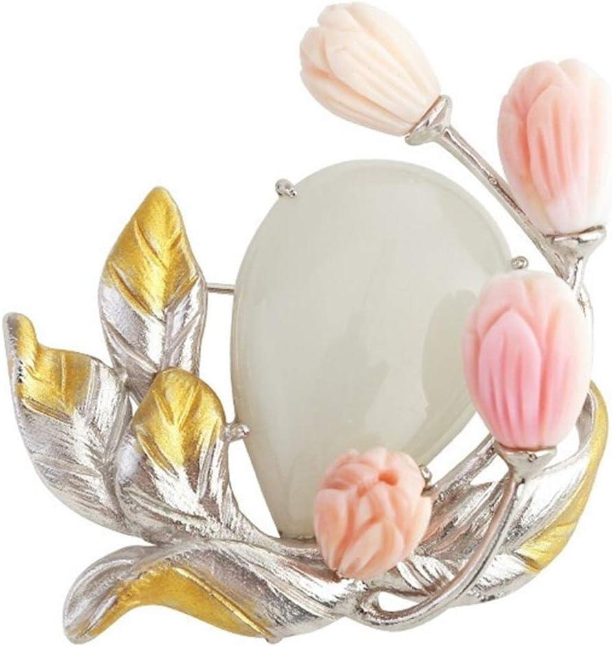 OFFicial Pins Hetian Jade Ranking TOP17 Brooches Vintage Coa Temperament Brooch Elegant