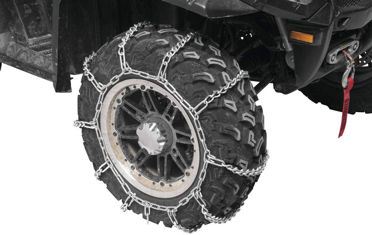 New Bargain QuadBoss Rear Tire Snow Chains 2 Set 2011-2014 of In a popularity Fits: -